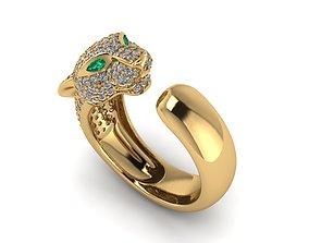 3D print model diamond-ring Pantera ring
