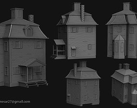 Wodden house for 3d print roof