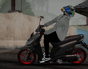 3D model Indonesia HONDA Beat 125 Karbu