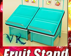 Fruits Stand Store Display Smoothable 3D