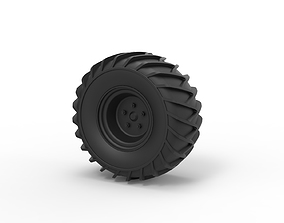 Diecast Wheel for snow 3D printable model