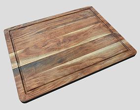 Chopping Board 3D model wood