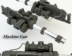 Machine Gun 002 3D model