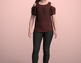 3D model Nelly 20213-01 - Animated Idle Woman