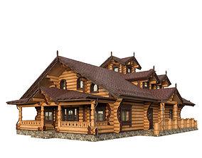 plant-element 3D model Log house