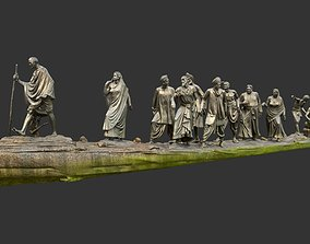 Gandhi Salt March 3D asset realtime