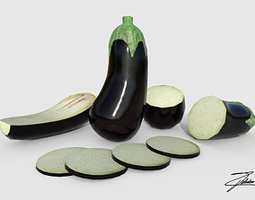 Eggplant 3D model VR / AR ready