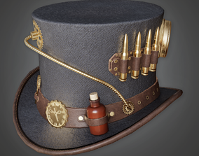 3D model Steampunk Top Hat - HAT - PBR Game Ready