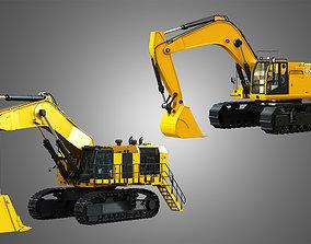 3D Hydraulic Mining Excavators