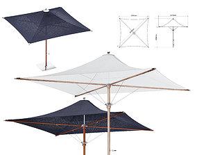 3D model Tensile Parasol Square Shape