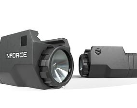 3D model Inforce APLc Compact Handgun Weapon Mounted Light