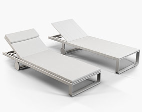 3D Gandia Blasco Flat chaise longue