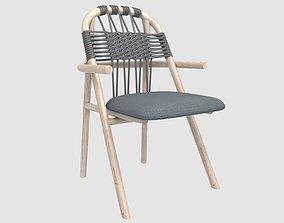 woven UNAM armchair by gervasoni 3D asset