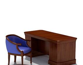 3D model Classic Desk With A Chair