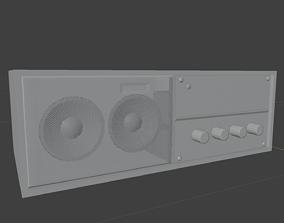 Vintage Radio stereo 3D