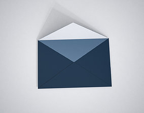 Envelope open motion 3D model