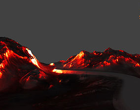 volcano 3D model game-ready