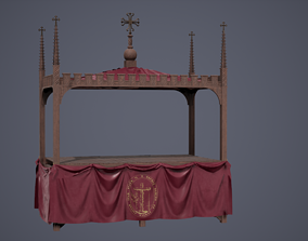Medieval Catholic Stage 3D asset