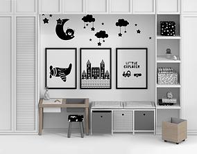 3D model Kid Furniture composition Full set