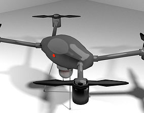 Drone - UAV Miniature Copter 3D model