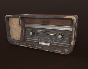 Old radio receiver 3D model VR / AR ready