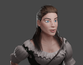 Female Merchant 3D model