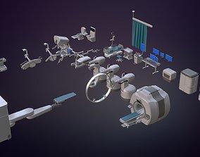 3D model Hospital Set - Medical Equipments
