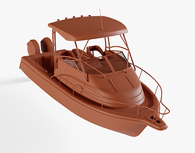 3D model Center console boat 2