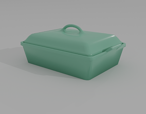 pan Casserole Dish with Lid 3D model