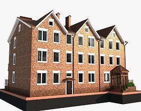 3 story brick house 3D