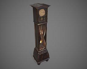 Grandfather Clock retro 3D model realtime