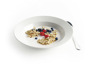 Breakfast meal 3D model