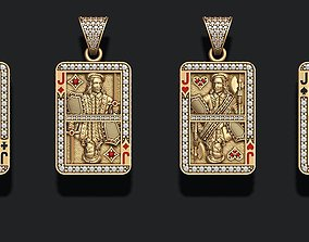 playing cards Jack pack set gold 3D print model