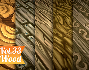 Stylized Wood Vol 33 - Hand Painted Texture 3D asset