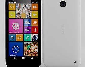 3D Nokia Lumia 630 635 Dual SIM White