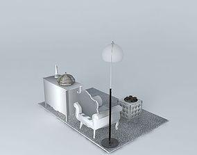 Small lounge Silver Maisons du monde 3D model