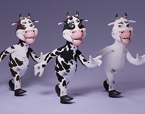 3D asset Toon Humanoid Cow
