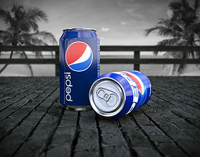 Pepsi Can 3D asset animated low-poly