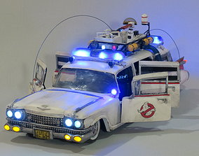 3D printable model Ecto-1 with lights and sound and a 3