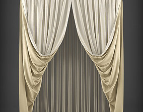 game-ready Curtain 3D model 261