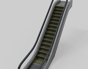 3D model Escalator animated modular