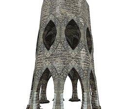 Gatehouse 01 Aqueduct Circle Pillar 05 3D model