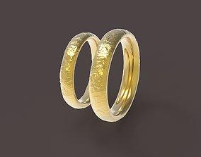 3D print model Nature comfort wedding rings