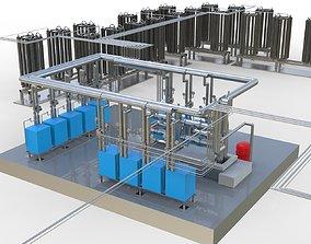 3D Industrial boiler