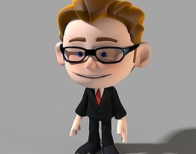 Cartoon Character Businessman 3D model