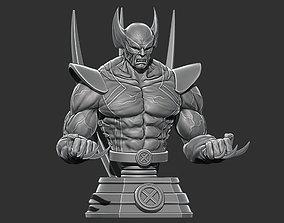 wolverinebust Wolverine Bust - Marvel 3D print model