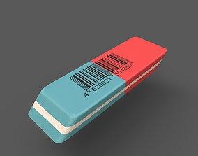 3D model low-poly Eraser