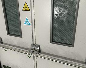 3D asset Closed Hospital Door