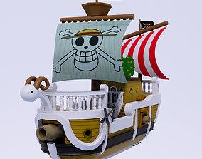 One Piece character Going merry 3D asset