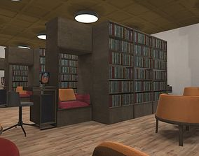 Library - interior and props 3D asset